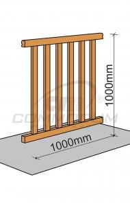Půdní schody - Galerie standardní výplň - délka 1000mm