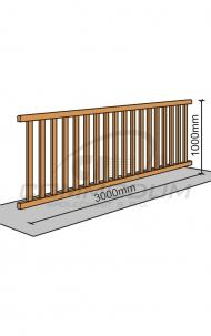 Dřevěné schody - Galerie standardní výplň - délka 3000mm