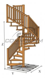 Dřevěné schody - VALBY čtvercové
