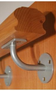 Dřevěné schody - Konzola madla - K1 - RAL 9006 (stříbrná)