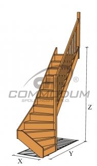 Půdní schody - LARIX spodní lomení KV 2940