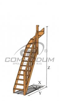 Točité schodiště - LIMBA horní lomení KV 3000