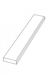 """Půdní schody - Dřevěný bukový práh """"60"""""""