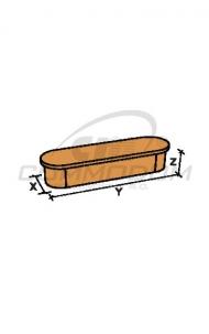 Dřevěné schody - Přídavný stupeň oboustranný