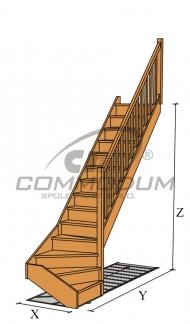 Půdní schody - TATRA spodní lomení KV 2750+30