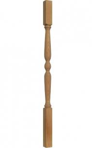 Dřevěné schodiště - Soustružená výplň zábradlí - VS02H