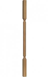 Dřevěné schodiště - Soustružená výplň zábradlí - VS08H