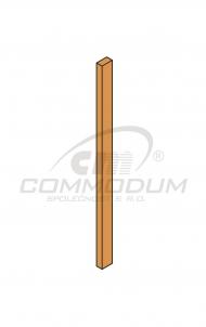 Dřevěné schody - Výplň zábradlí nesoustružená - W1